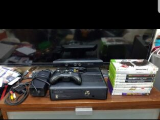Xbox 360 Console + Kinect + controller + 10 games