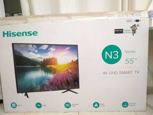55-Inch 4K UHD Smart LED TV 55N3000UW Black