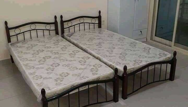 Brand new single wooden bed with medical metrees PM whtsap 055996634464