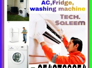 AC Repairing.washing machines, split ac fixing and fridge 0543788654