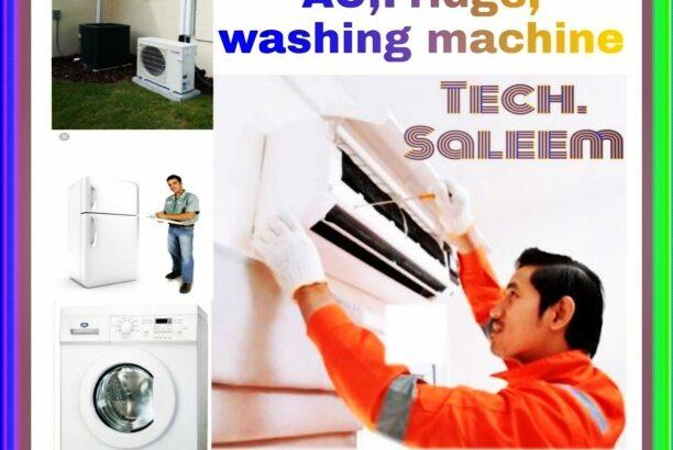 AC Repairing.washing machines, split ac fixing and fridge 0543788654