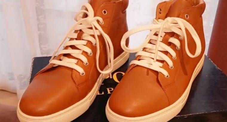 Polo Ralph Lauren, Brown dress sneakers athletic