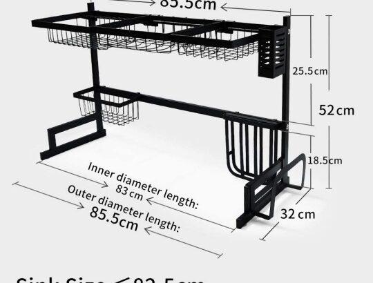 Kitchen shelf rack dish drain rack