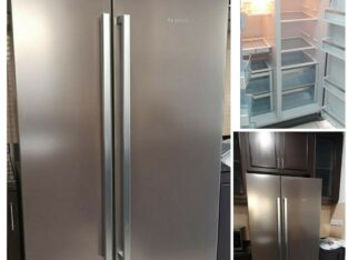 Bosch side by side fridge stainless Steel body