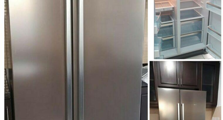 Bosch side by side fridge stainless Steel body