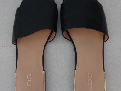 Black Aldo slippers