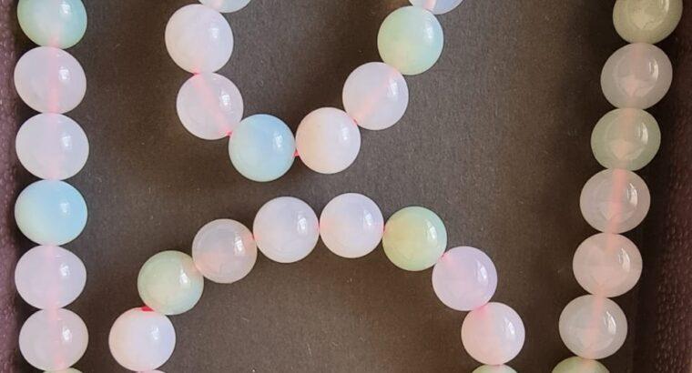 Rose quartz necklace and bracelet